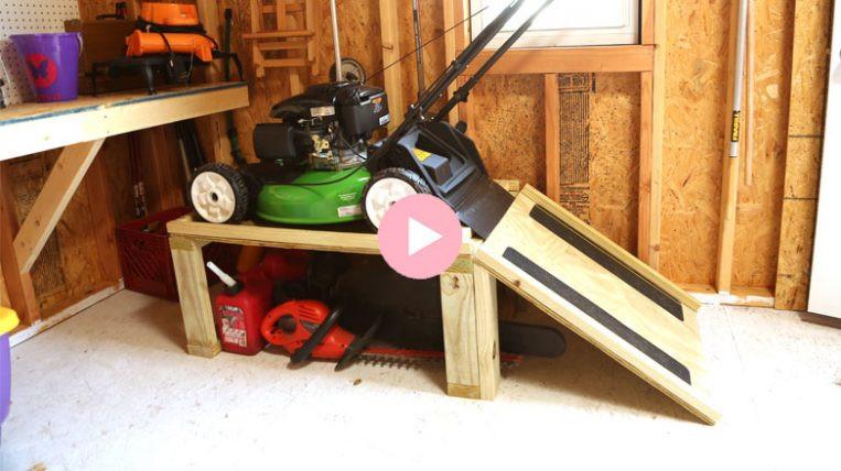 Best ideas about Lawn Mower Garage Storage . Save or Pin Lawn Mower Storage Caddy Now.