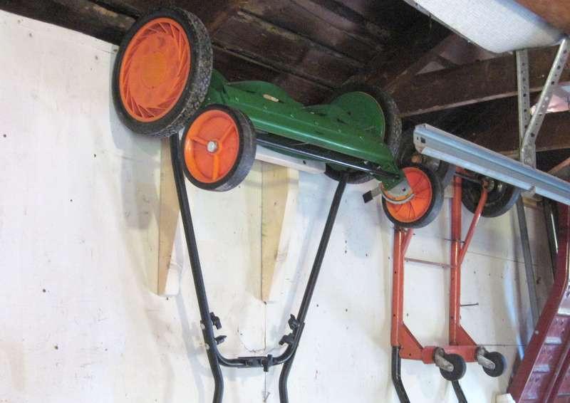Best ideas about Lawn Mower Garage Storage . Save or Pin Garage storage ideas Now.