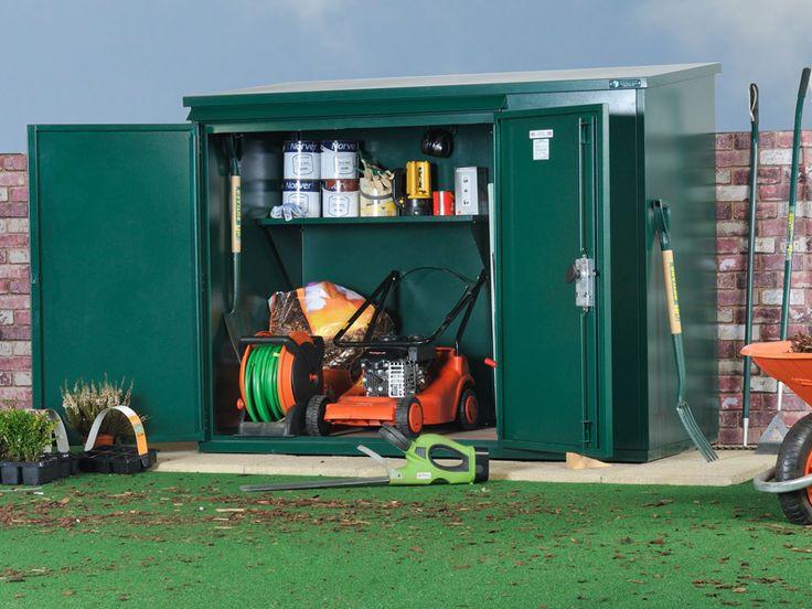 Best ideas about Lawn Mower Garage Storage . Save or Pin lawn mower storage ideas Now.