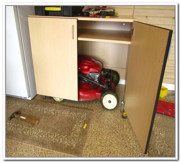 Best ideas about Lawn Mower Garage Storage . Save or Pin Garden Storage Box For Lawn Mower Now.