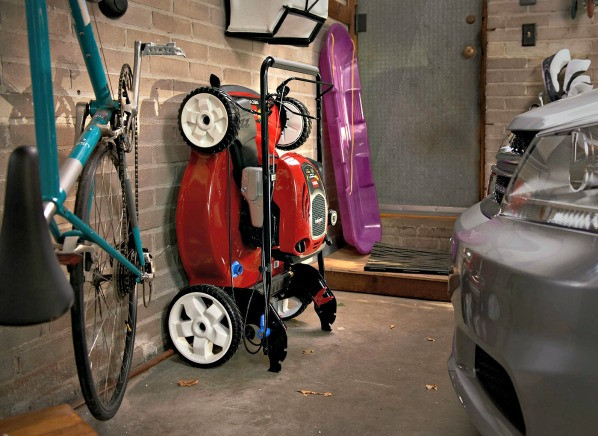 Best ideas about Lawn Mower Garage Storage . Save or Pin New Toro mower stands up for easy storage Consumer Reports Now.
