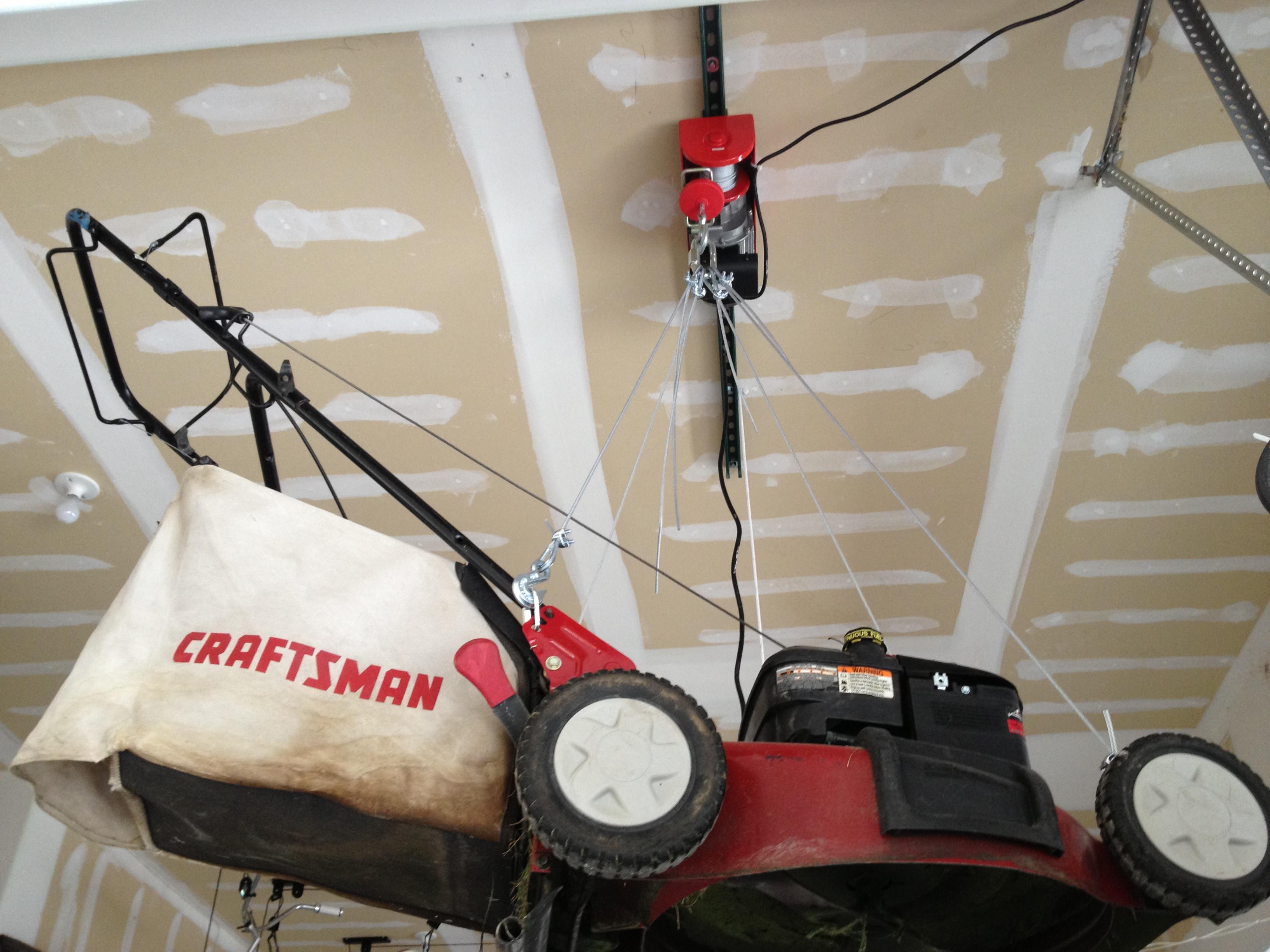 Best ideas about Lawn Mower Garage Storage . Save or Pin Dutch Redneck Garage Storage Solutions Part 2 Now.