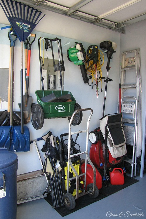 Best ideas about Lawn Mower Garage Storage . Save or Pin Garage Organization Makeover Clean and Scentsible Now.