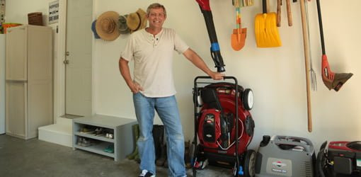Best ideas about Lawn Mower Garage Storage . Save or Pin Garage Space Saving Storage Solutions Now.