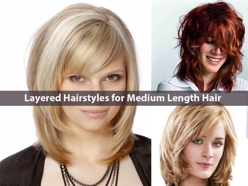 Layered Haircuts For Medium Length Hair  Latest Everlasting Layered Hairstyles for Medium Length