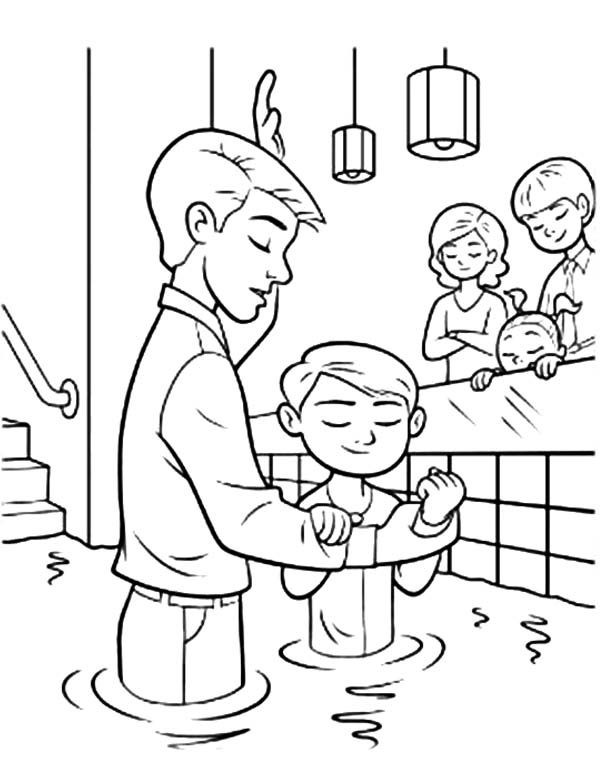 Lds Baptism Coloring Pages  Jesuss Baptism Free Colouring Pages