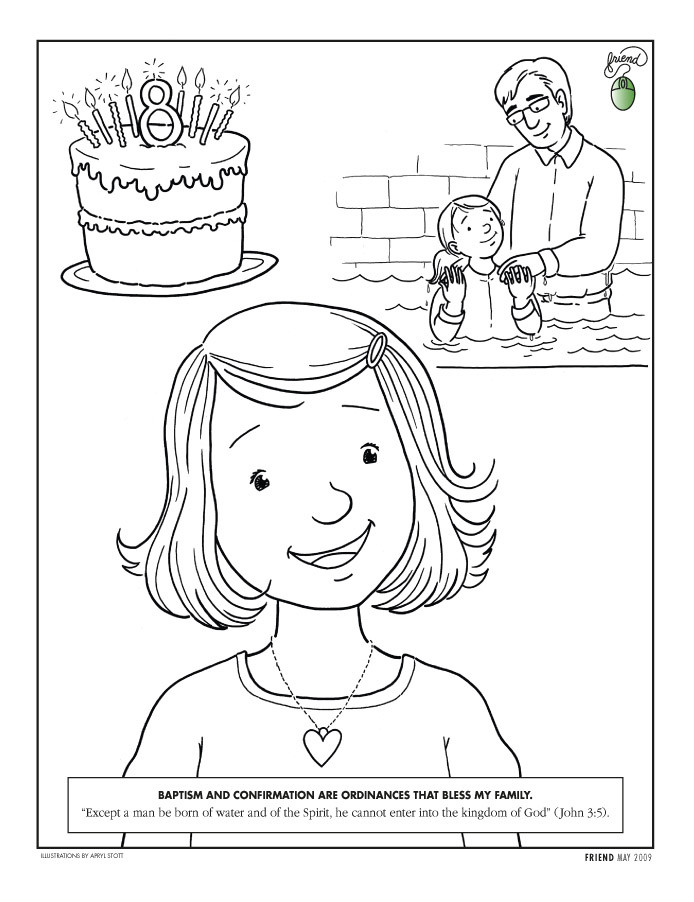Lds Baptism Coloring Pages  301 Moved Permanently