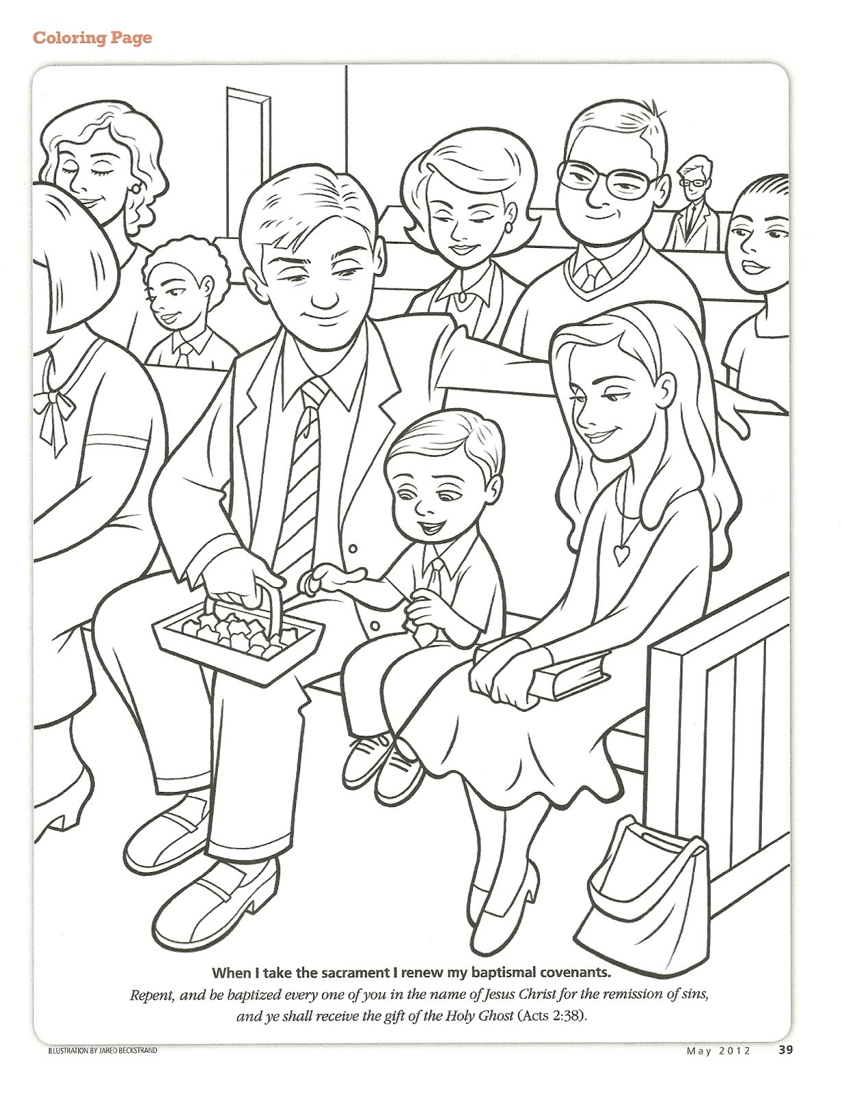 Lds Baptism Coloring Pages  Coloring pages baptism lds
