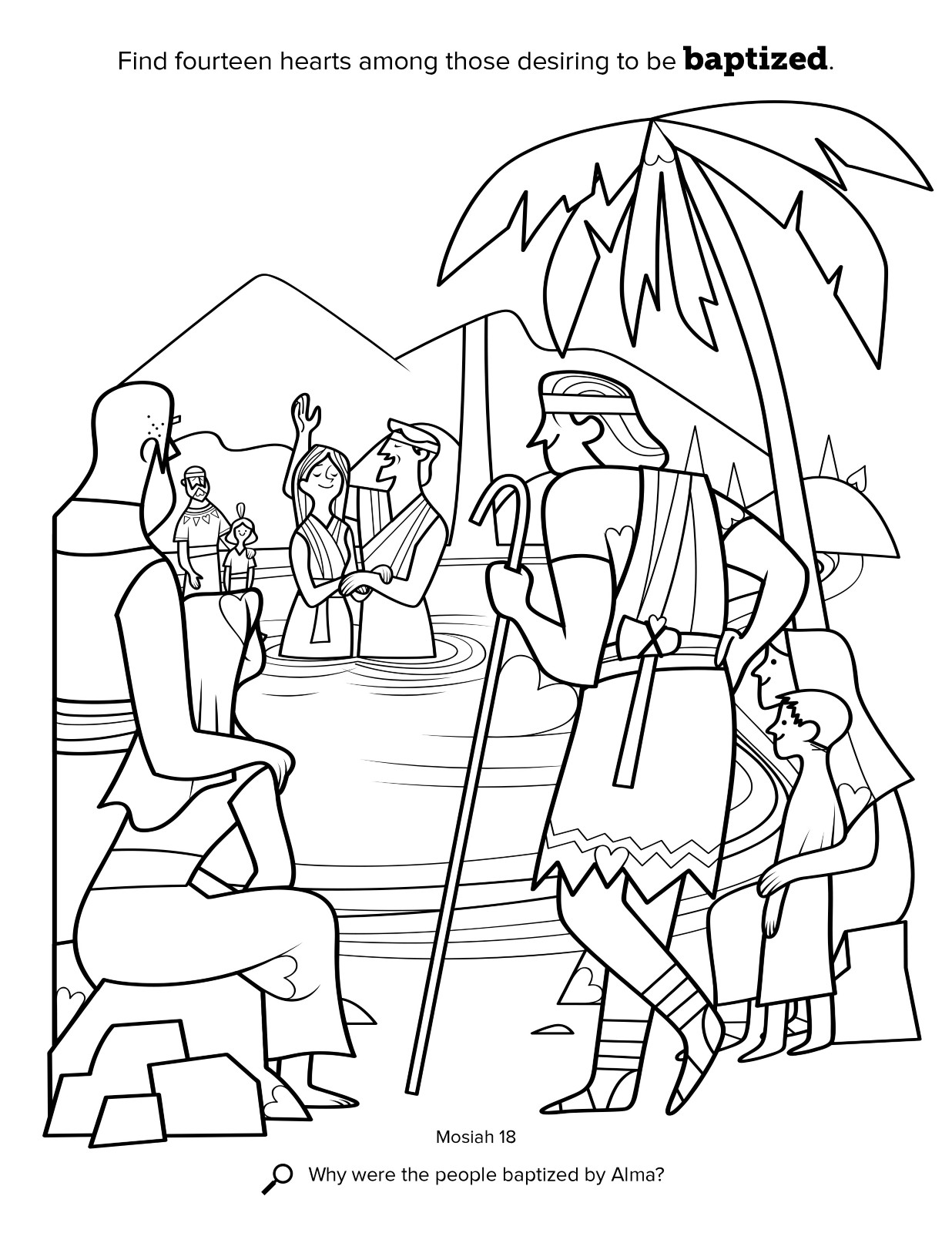 Lds Baptism Coloring Pages  Alma Baptizes at the Waters of Mormon
