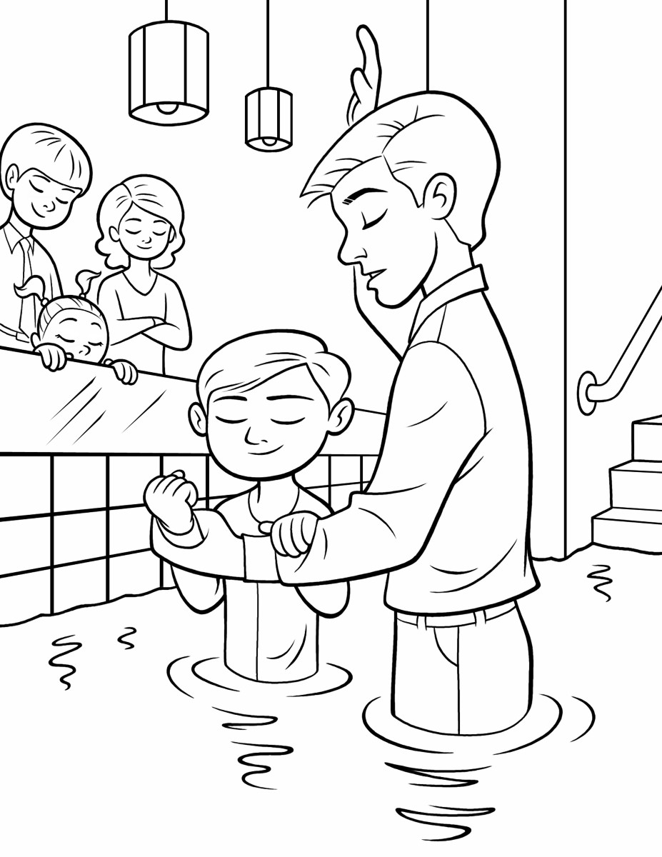 Lds Baptism Coloring Pages  Baptism