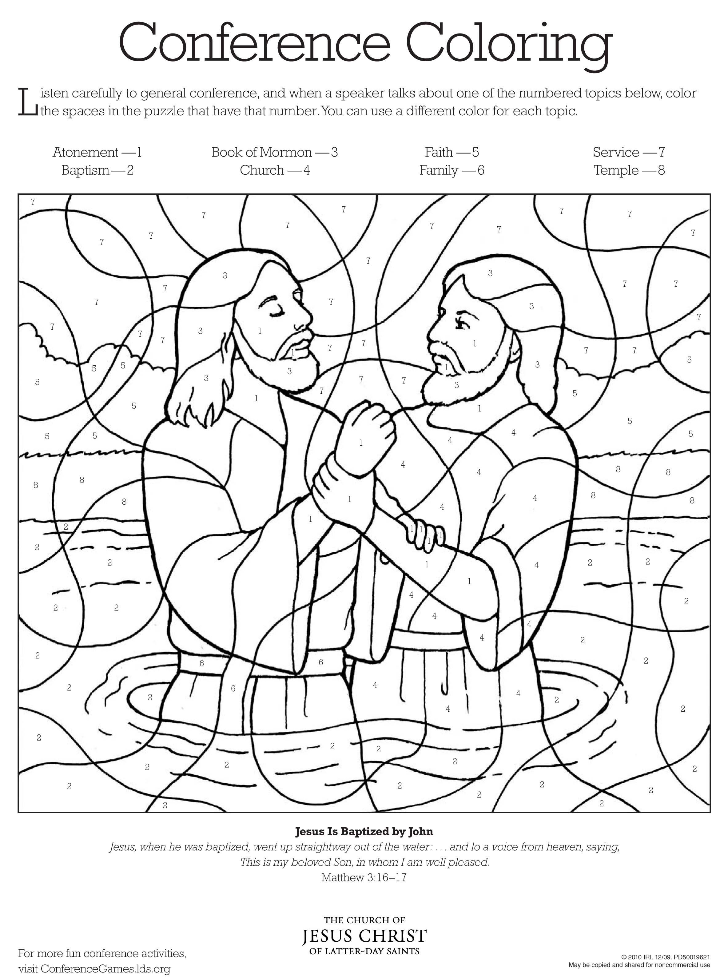 Lds Baptism Coloring Pages  LDS Coloring Pages Dr Odd