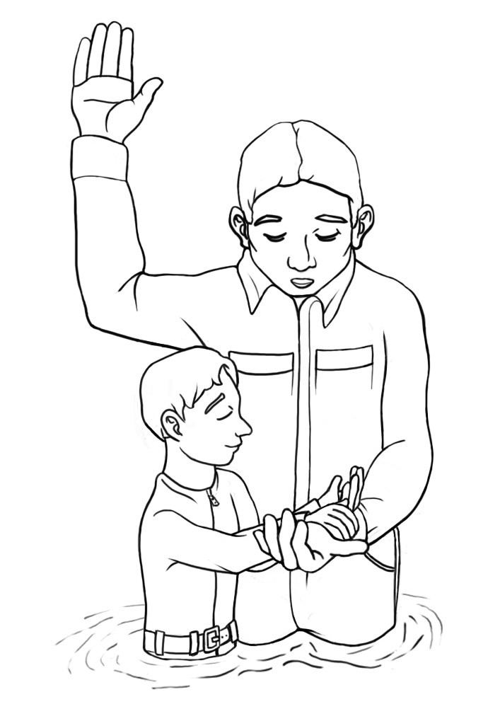 Lds Baptism Coloring Pages  Lds clipart and images Clipart Collection