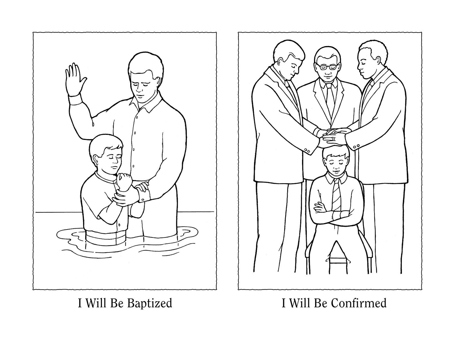Lds Baptism Coloring Pages  Baptism Coloring Page Lds