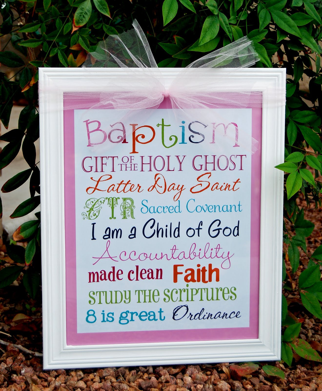 Lds Baptism Gift Ideas For Boys  A Pocket full of LDS prints Baptism Subway Art