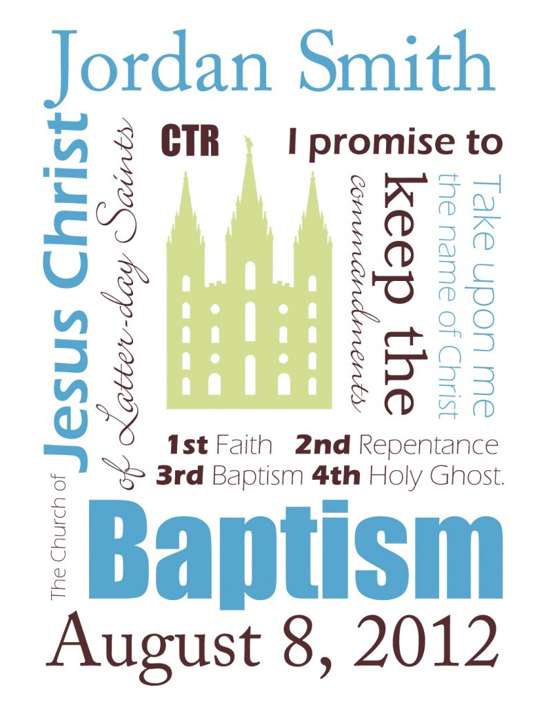 Lds Baptism Gift Ideas For Boys  Free Customizable Baptism Printables