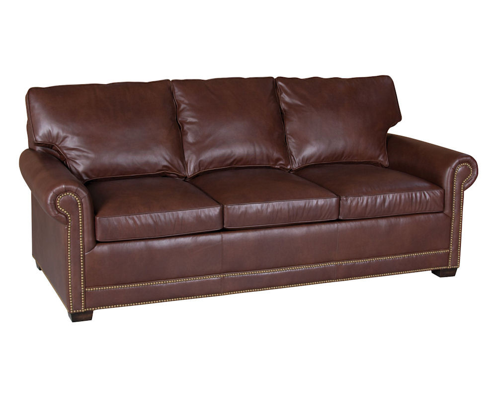 Best ideas about Leather Sofa Sleeper . Save or Pin Classic Leather Larsen Sofa Sleeper 58 Now.