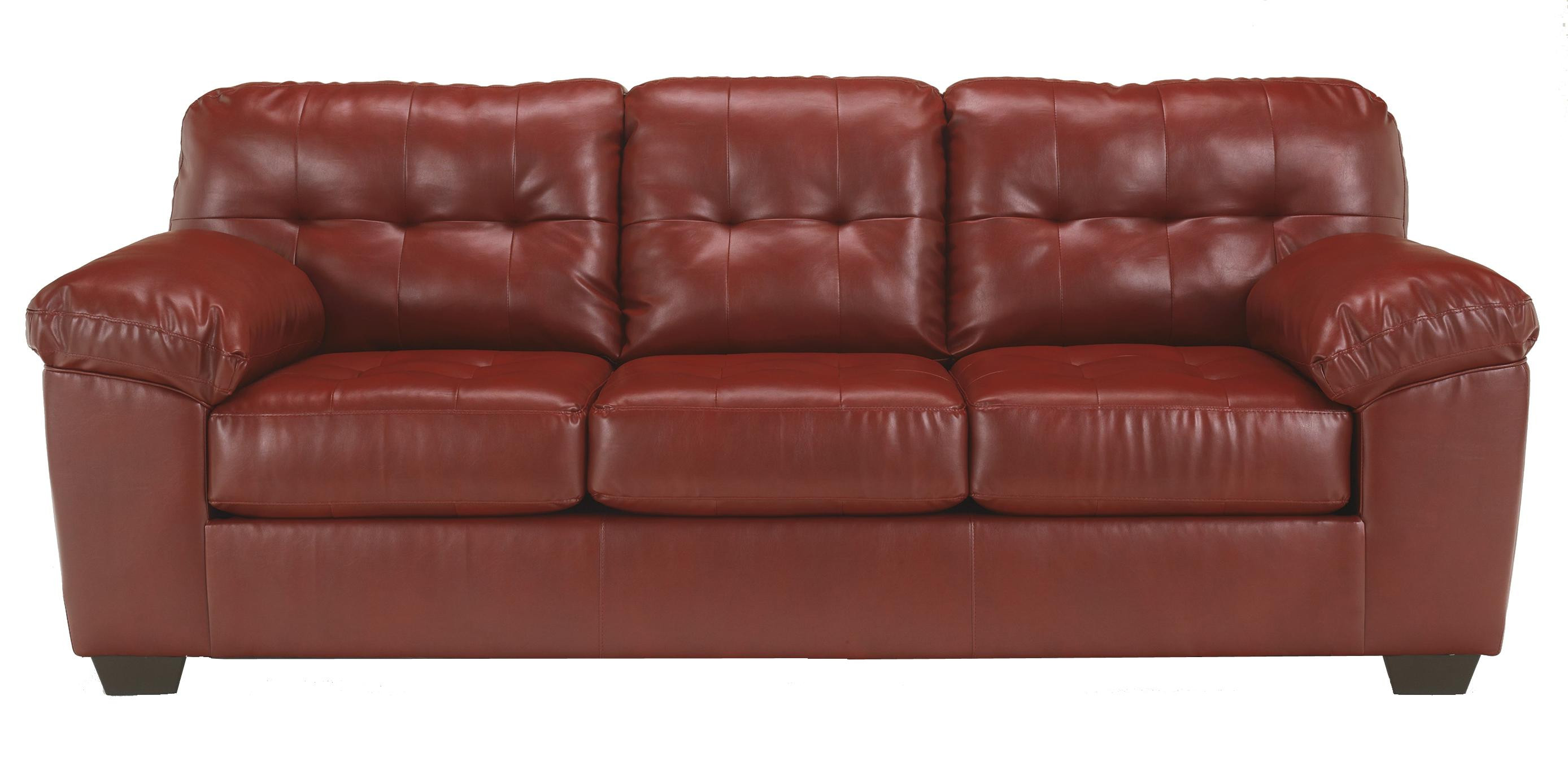 Best ideas about Leather Sofa Sleeper . Save or Pin Queen Faux Leather Sofa Sleeper w Tufting by Signature Now.