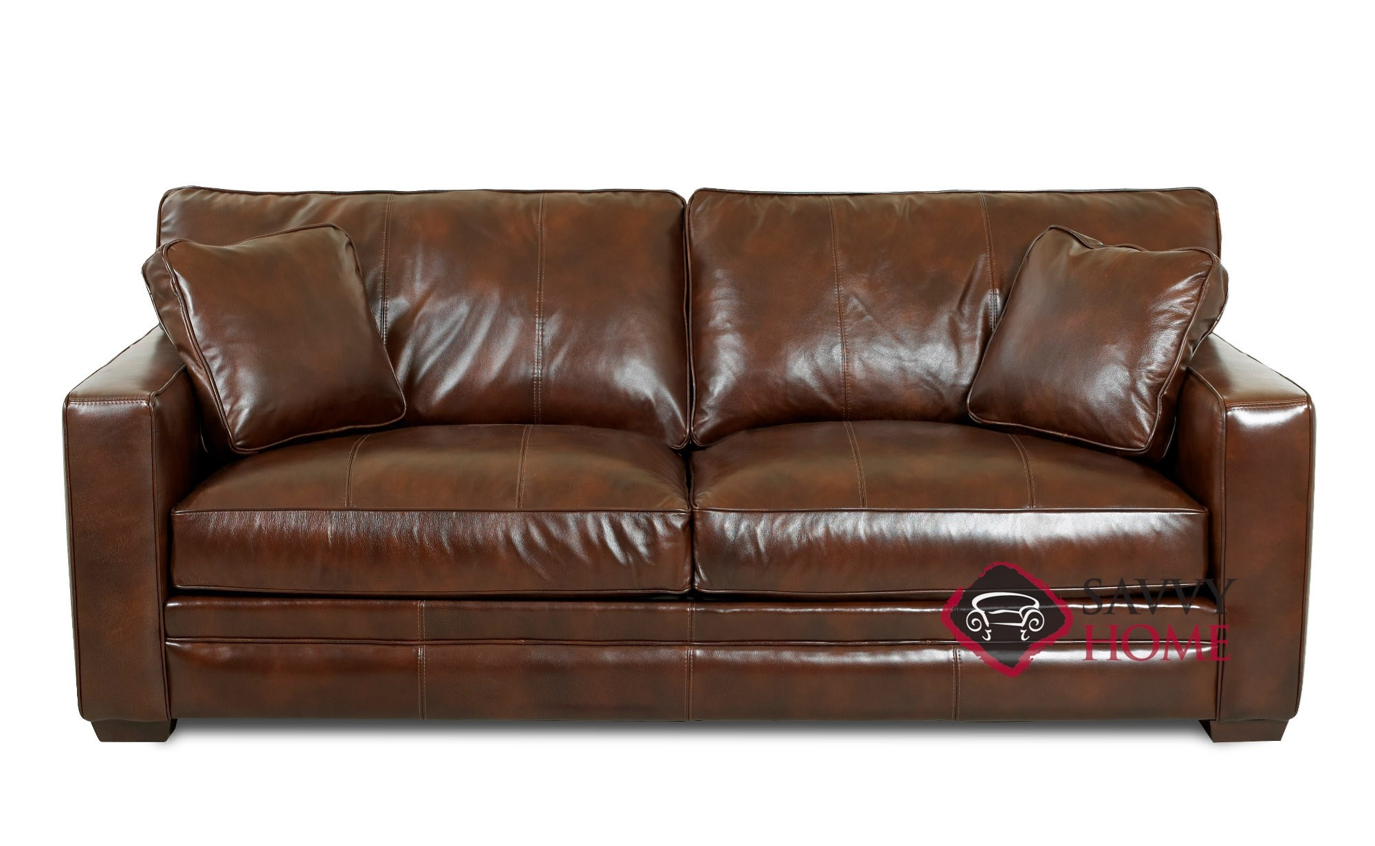 Best ideas about Leather Sofa Sleeper . Save or Pin Chandler Leather Sleeper Sofas Queen by Savvy is Fully Now.