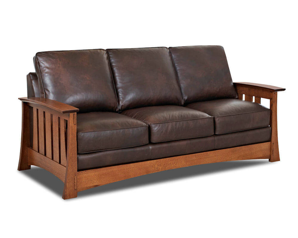 Best ideas about Leather Sofa Sleeper . Save or Pin Mission Style Leather Sleeper Sofa American Made CL7016DQSL Now.