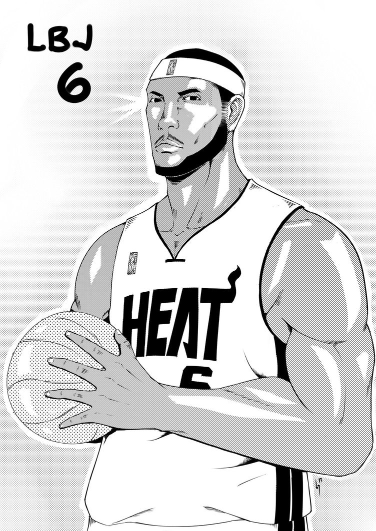 Lebron James Coloring Pages  Lebron James Coloring Pages Bestofcoloring