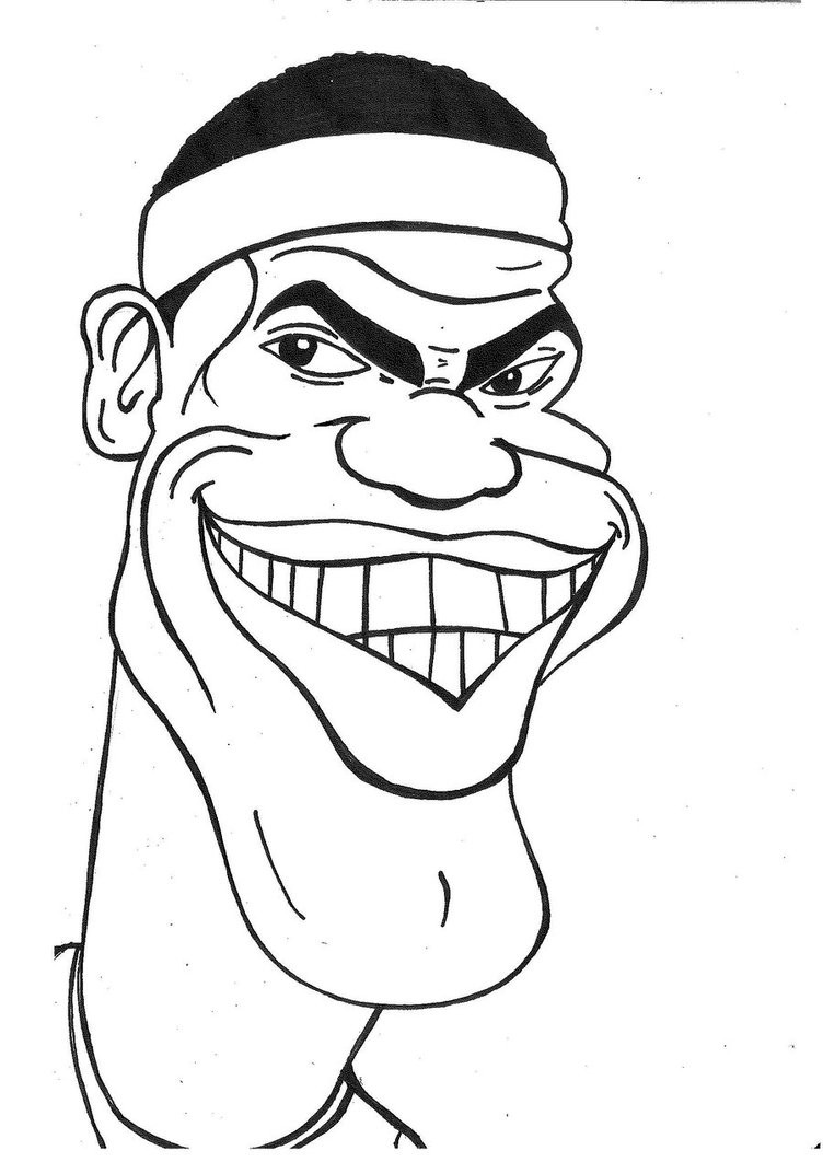 Lebron James Coloring Pages  Lebron Shoe Free Coloring Pages
