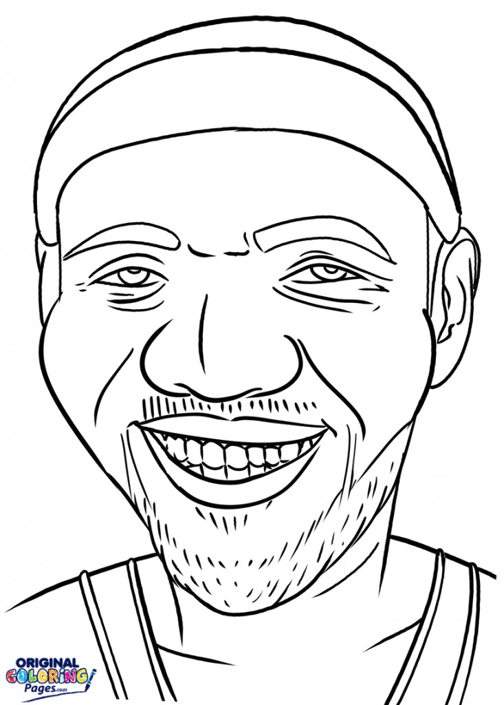 Lebron James Coloring Pages  Celebrities – Coloring Pages – Original Coloring Pages
