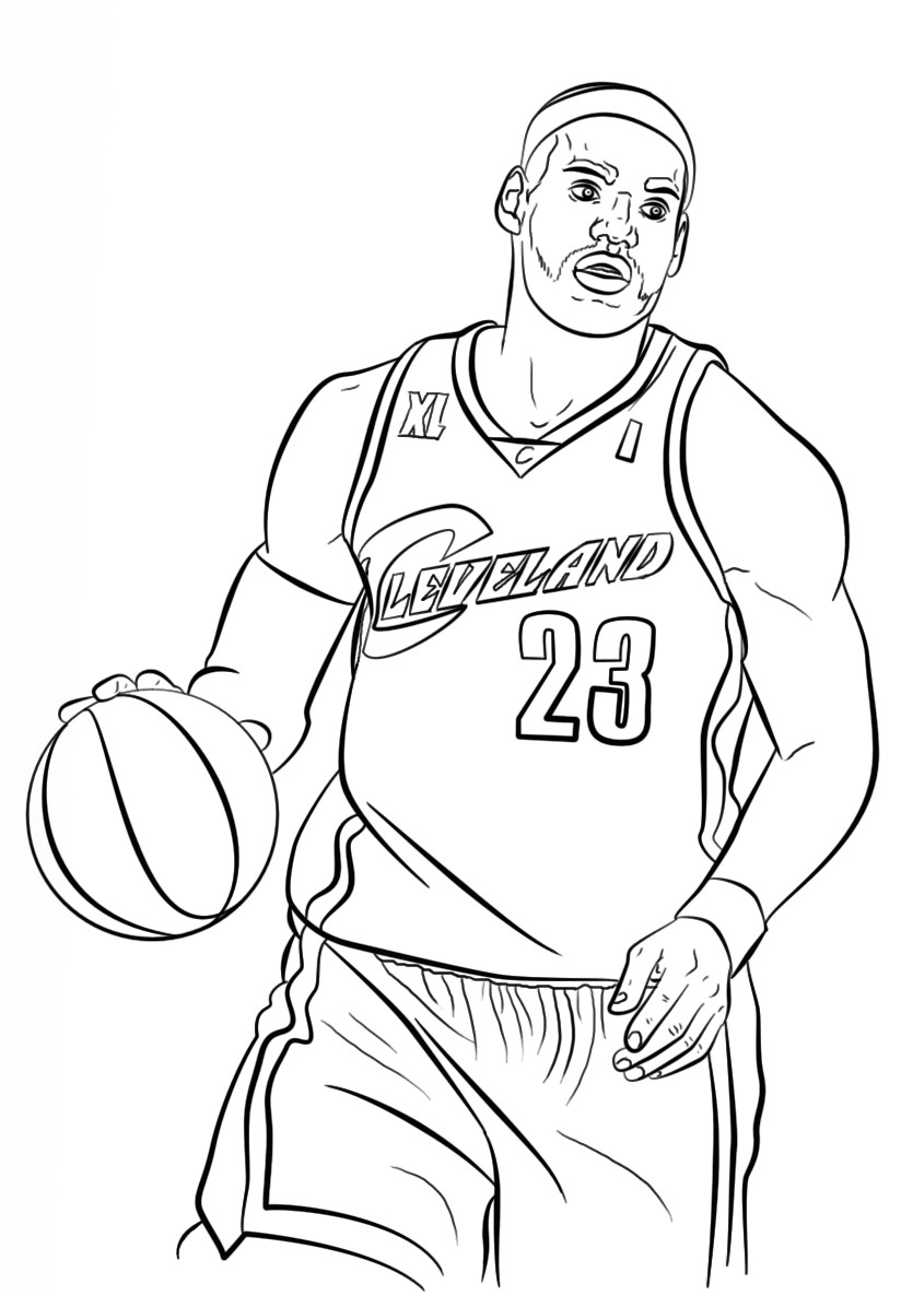 Lebron James Coloring Pages  Free Printable NBA Coloring Pages National Basketball