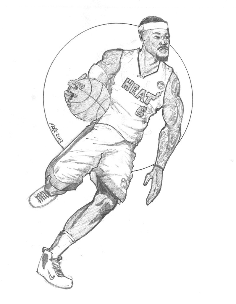 Lebron James Coloring Pages  James Leboron Nba Free Coloring Pages