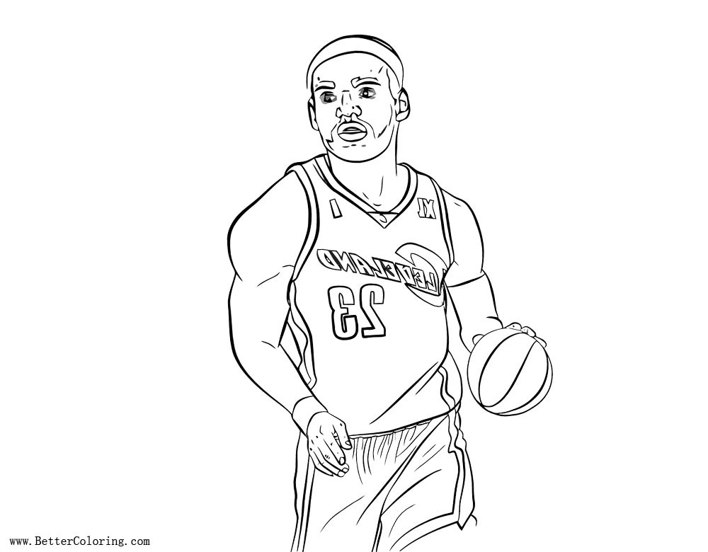 Lebron James Coloring Pages  Lebron James Coloring Pages Line Art Free Printable