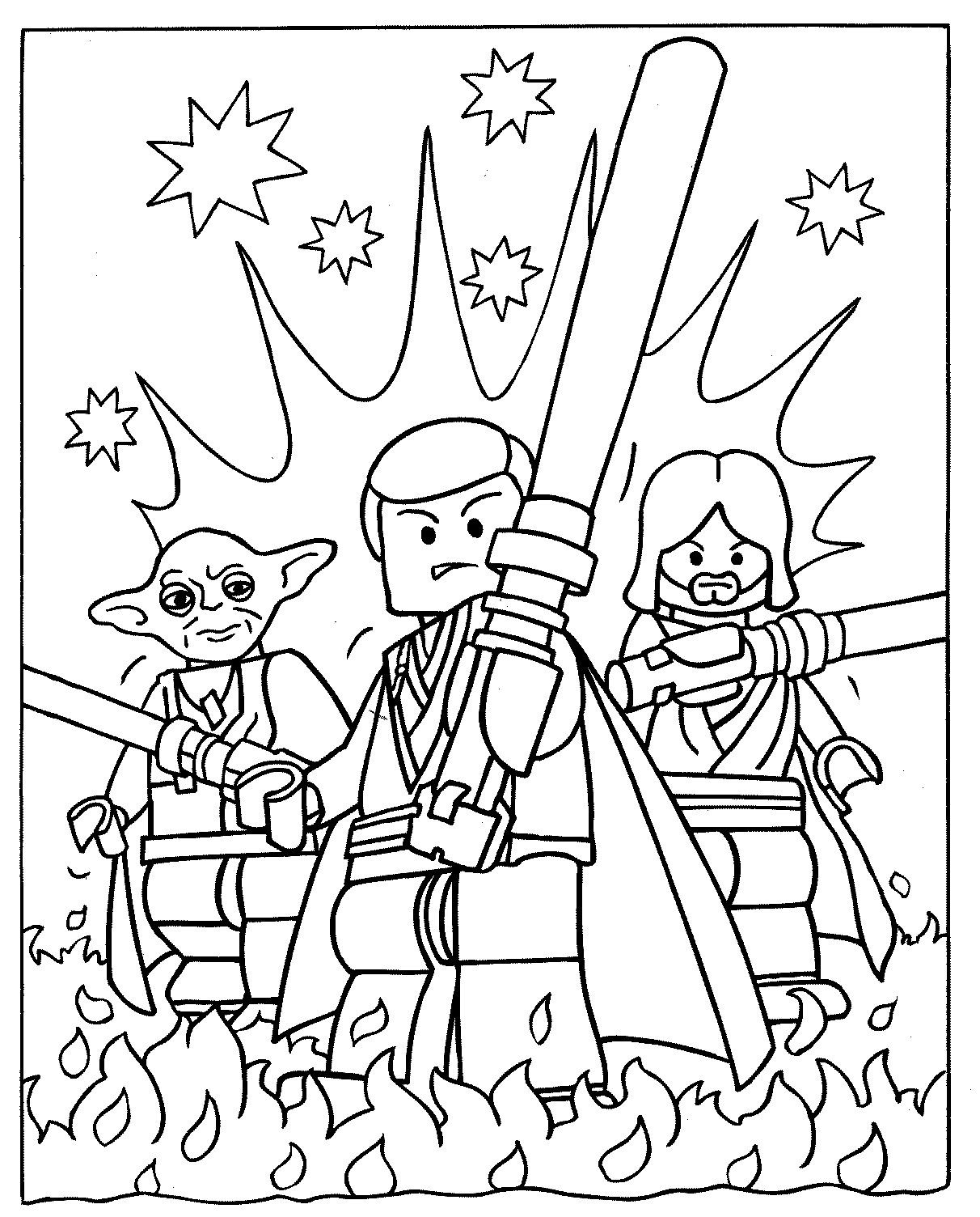 Lego Coloring Pages For Boys  Lego Star Wars coloring pages