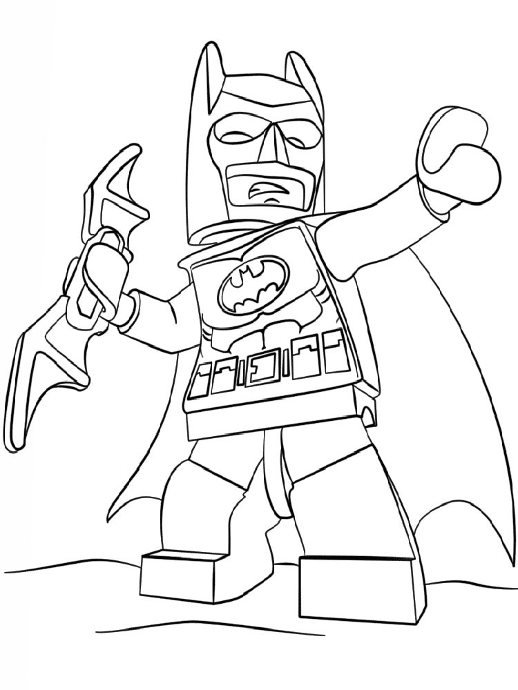 Lego Coloring Pages For Boys  Lego Batman coloring pages Free Printable Lego Batman