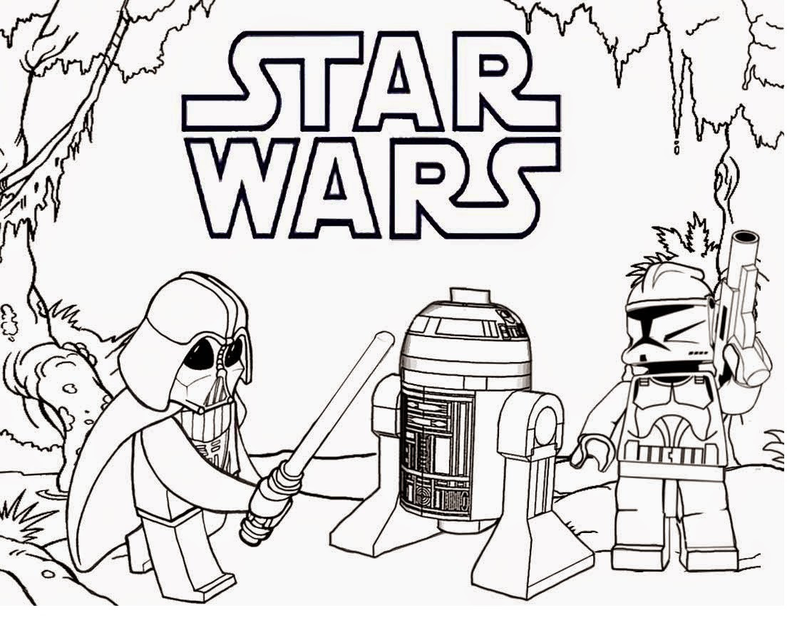 Lego Coloring Pages For Boys  star wars lego coloring pages