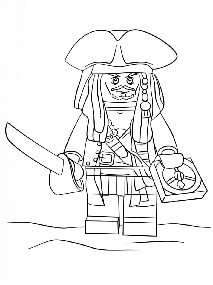 Lego Coloring Pages For Boys  Lego Pirates coloring pages Free Printable Lego Pirates