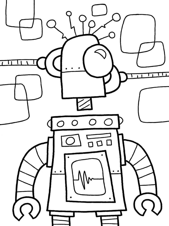 Lego Robot Coloring Pages  Robot Coloring Pages coloringsuite