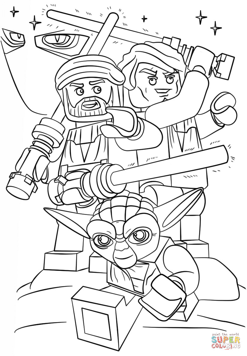 Lego Star Wars Coloring Pages  Lego Star Wars Clone Wars coloring page