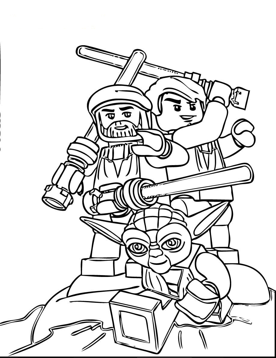 Lego Star Wars Coloring Pages To Print  LEGO coloring pages with characters Chima Ninjago City