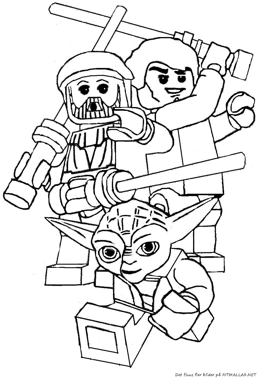 Lego Star Wars Coloring Pages To Print  Lego Star Wars Luke Skywalker Coloring Page Free Printable