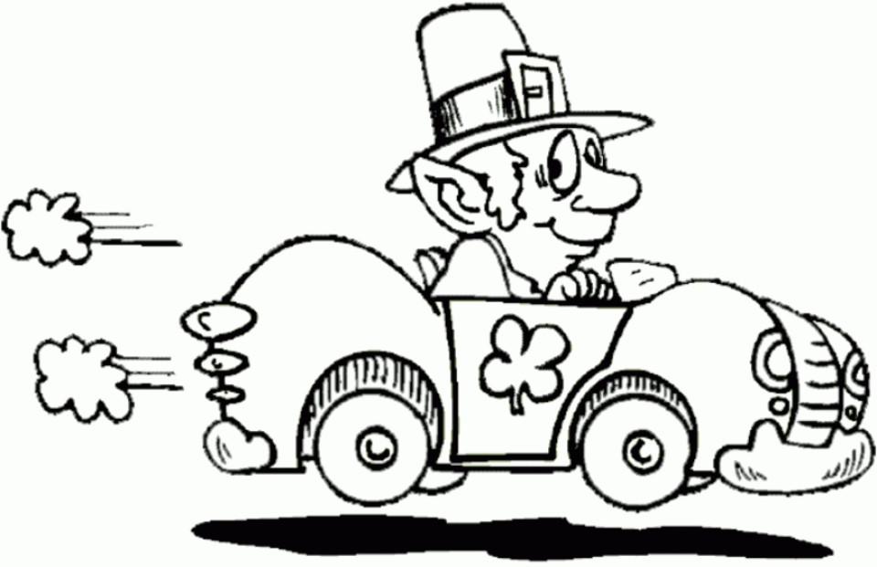 Leprechaun Coloring Pages  20 Free Printable Leprechaun Coloring Pages