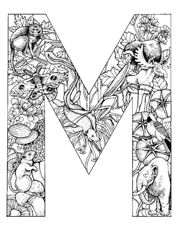 Letter M And V Togueter Coloring Pages For Girls Printable  Kids n fun
