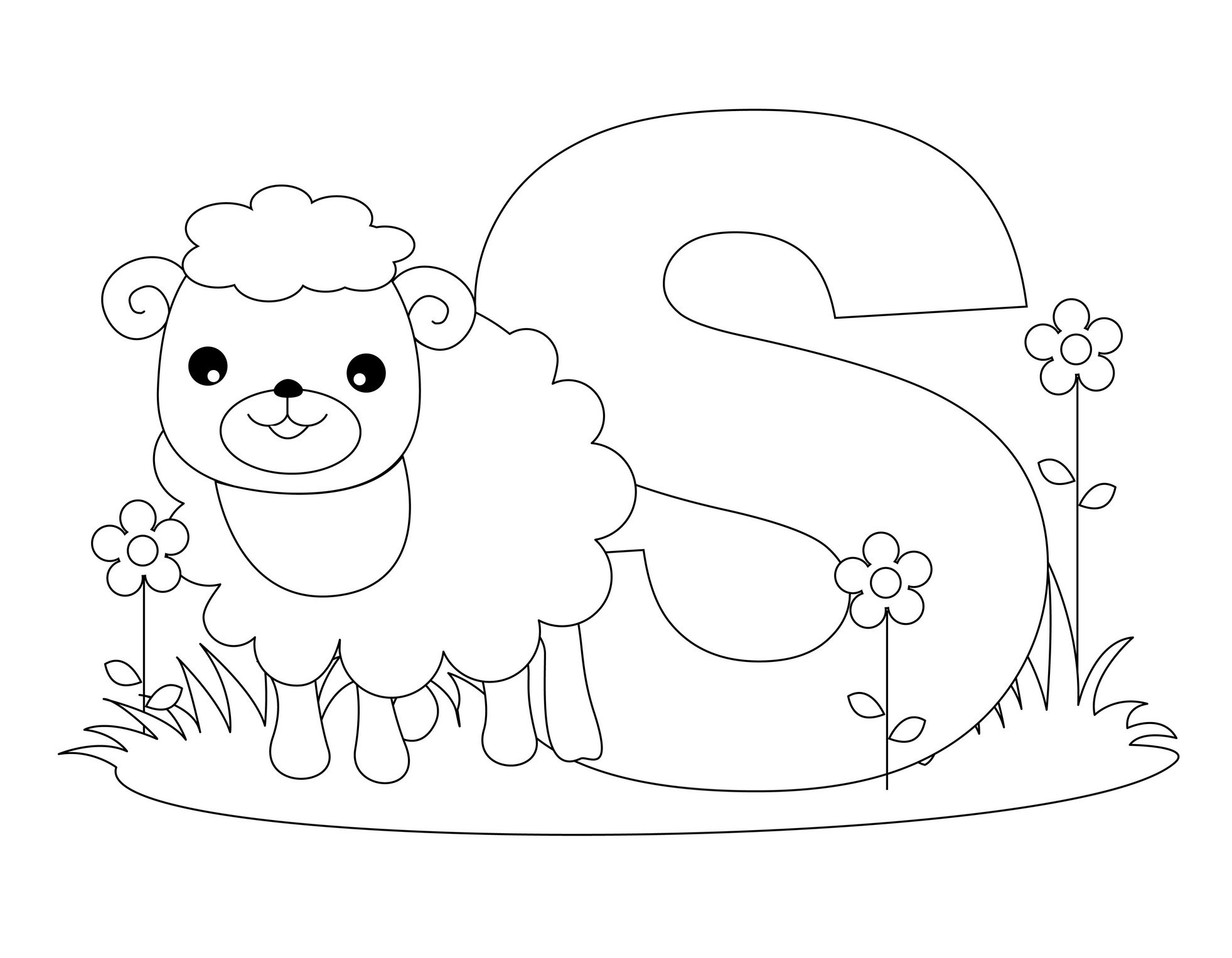 Letters Coloring Pages For Kids  Free Printable Alphabet Coloring Pages for Kids Best