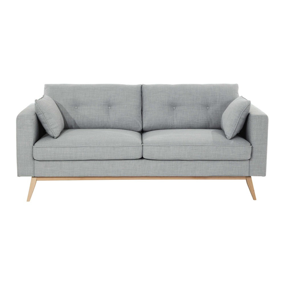 Best ideas about Light Gray Sofa . Save or Pin 3 seater fabric sofa in light grey Brooke Now.