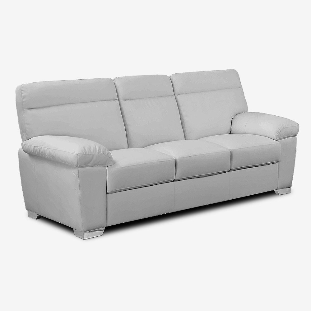Best ideas about Light Gray Sofa . Save or Pin ALTO Italian Inspired High Back Leather Light Grey Sofa Now.