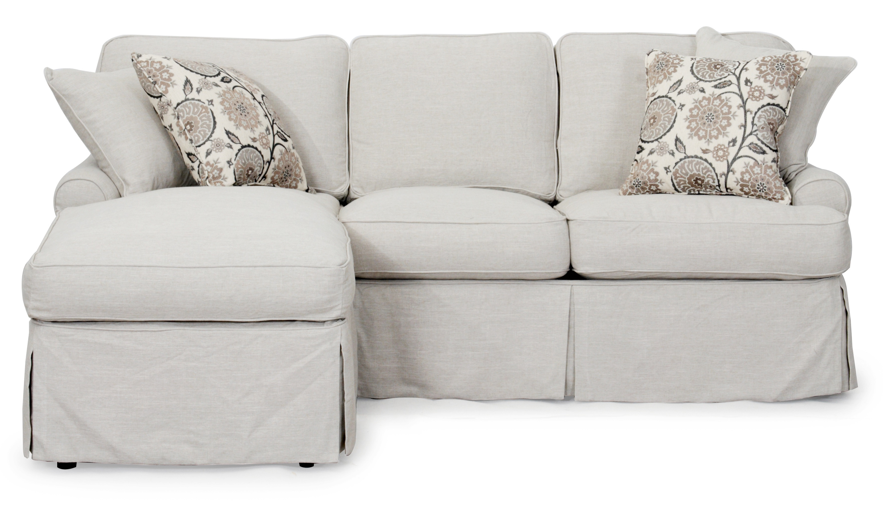 Best ideas about Light Gray Sofa . Save or Pin Sunset Trading Horizon Slipcovered Sleeper Sofa and Chaise Now.