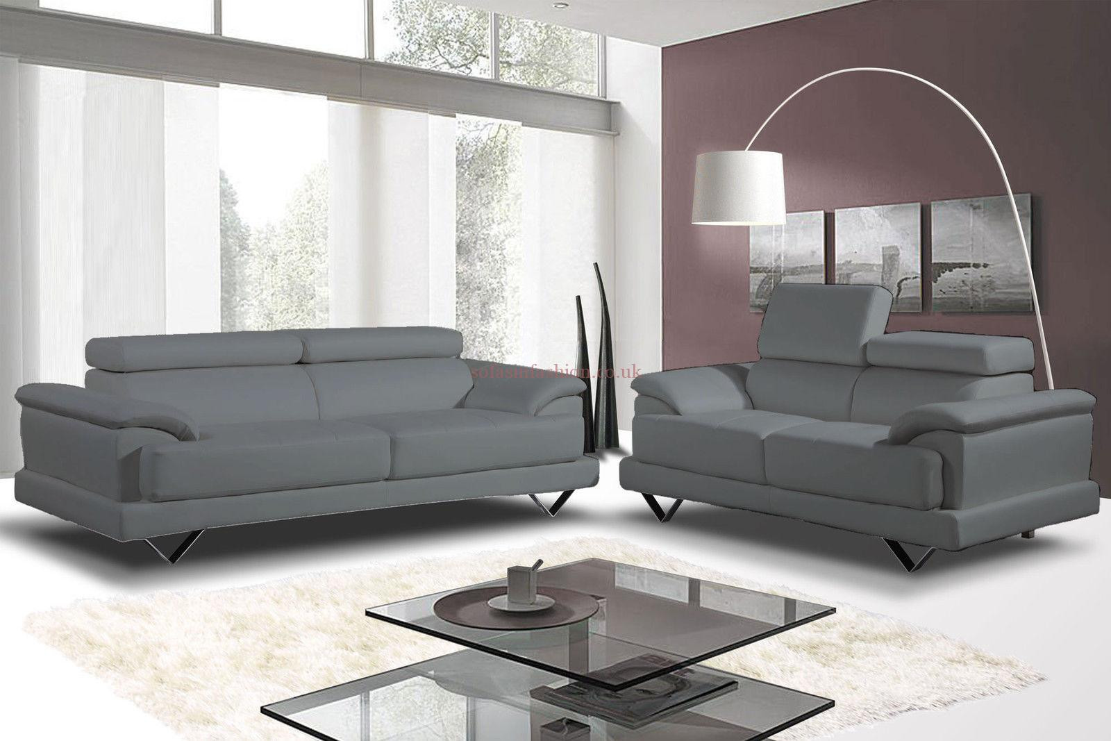 Best ideas about Light Gray Sofa . Save or Pin Light Gray Leather Sofa Gia Light Grey Full Italian Modern Now.