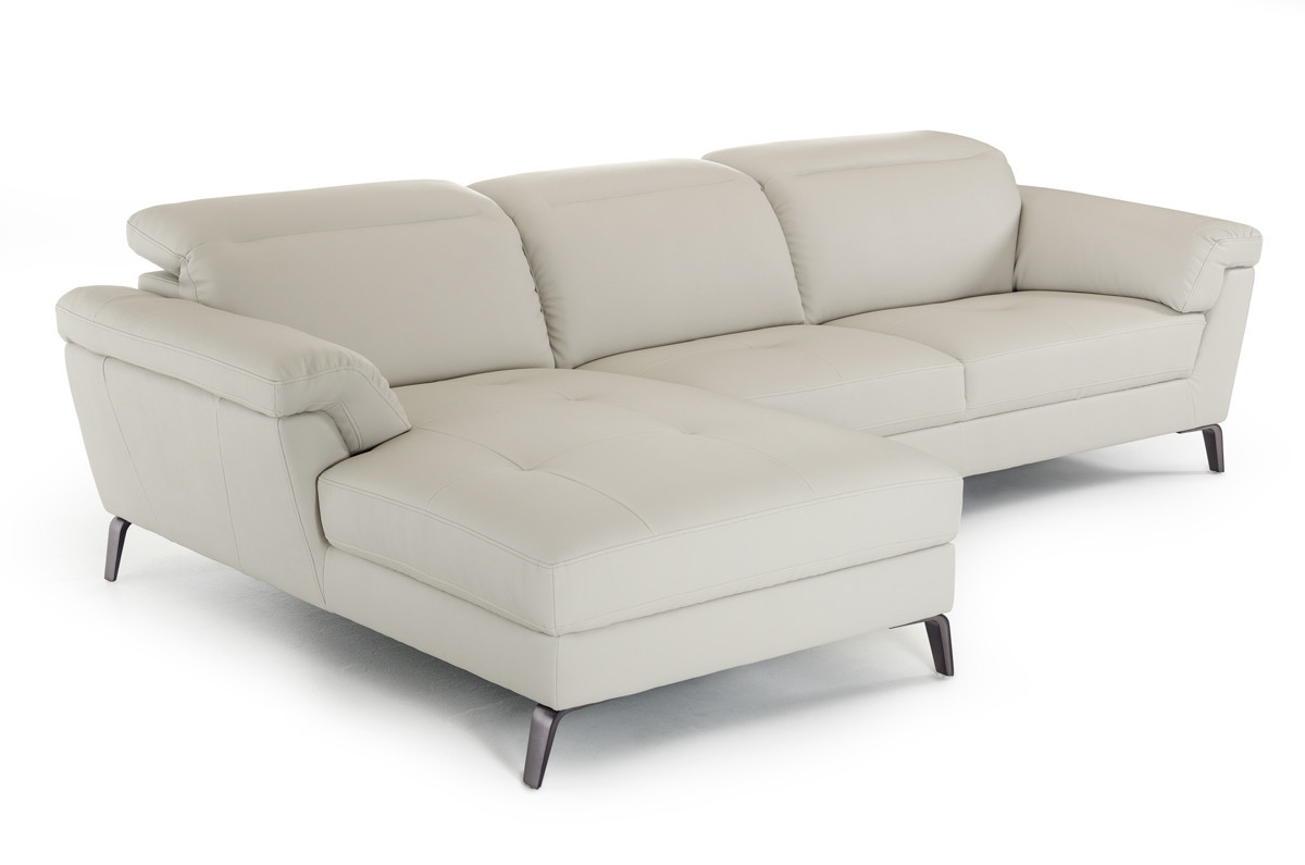 Best ideas about Light Gray Sofa . Save or Pin Divani Casa Edelweiss Modern Light Grey Eco Leather Now.