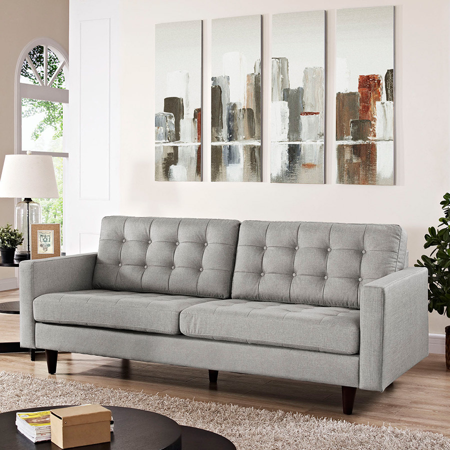 Best ideas about Light Gray Sofa . Save or Pin Modern Sofas Enfield Light Gray Sofa Now.