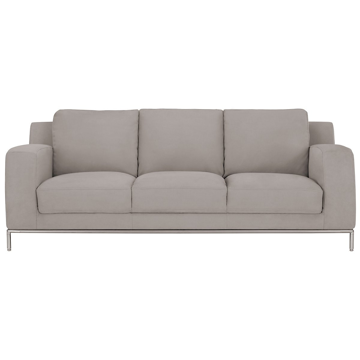 Best ideas about Light Gray Sofa . Save or Pin Wynn Light Gray Microfiber Sofa Now.