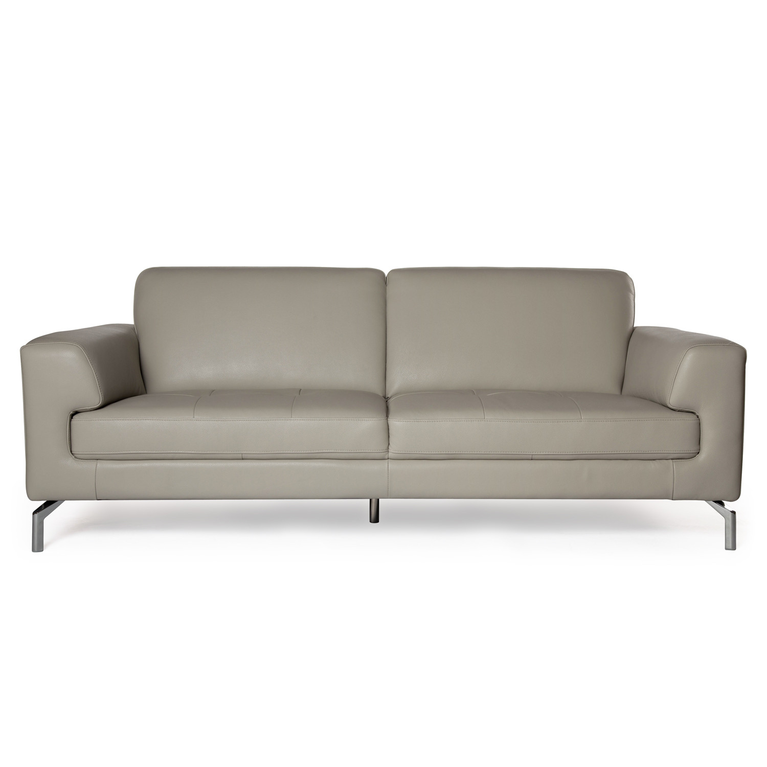 Best ideas about Light Gray Sofa . Save or Pin Light Grey Leather Sofa Valencia 3 Seater Taupe Grey H8587 Now.