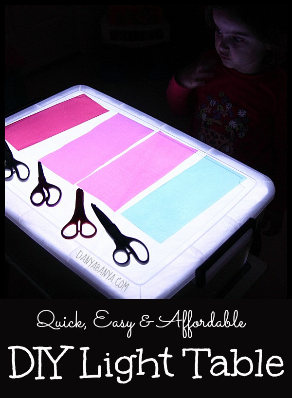 Best ideas about Light Table For Kids . Save or Pin DIY Light Table – Danya Banya Now.