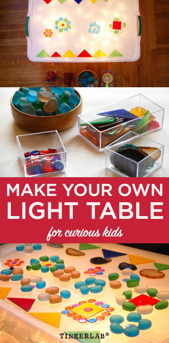 Best ideas about Light Table For Kids . Save or Pin Homemade Easy Low cost Light Table Now.